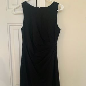Theory Black, Side Ruched, Mid-Length Dress